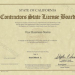 California Contractor's License